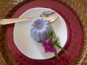 Panna cotta à la violette